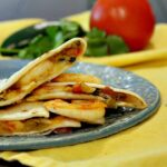 Green Chile Shrimp Quesadillas