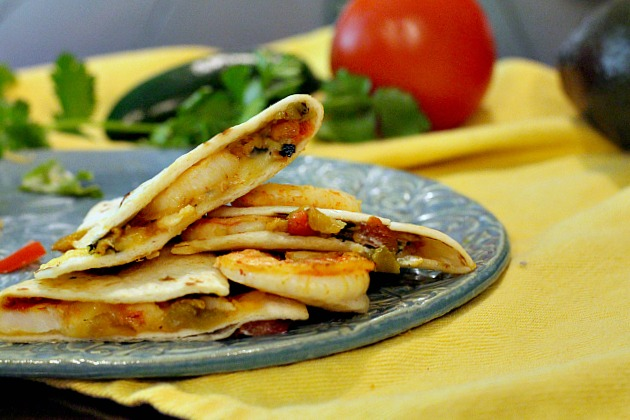 New Mexico Shrimp Quesadilla appetizer