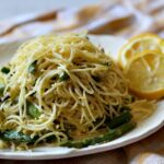 Angel Hair Pasta with Asparagus and Lemon Cream Sauce