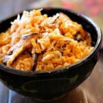 Instant Pot Risotto with shiitake mushrooms and chimayo chile powder
