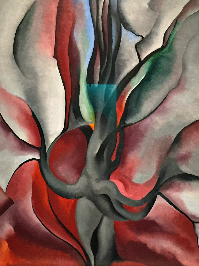 A Georgia O'keeffe painting from the museum in Santa Fe