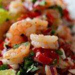 Shrimp taco lettuce wraps with dressing