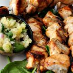 Maple Glazed Grilled Chicken Kabobs