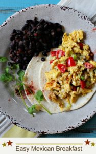 easy mexican scrambled egg breakfast