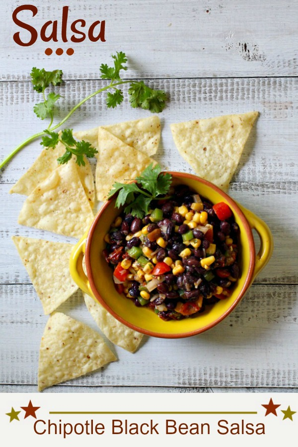 Black Bean Salsa with Corn.