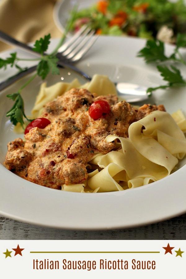 Italian Sausage Ricotta Sauce