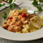 Ricotta Pasta Sauce with Italian Sausage and tomatoes