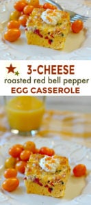 3 cheese baked egg casserole