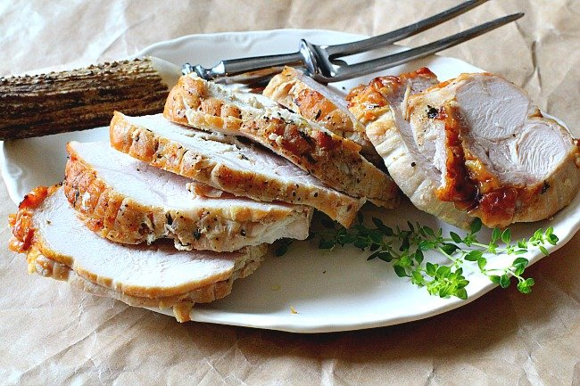 Oven roasted turkey breast.