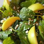 Baby Kale and Apple Salad with Cider Vinaigrette