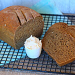 Molasses bread with sweet cream butter
