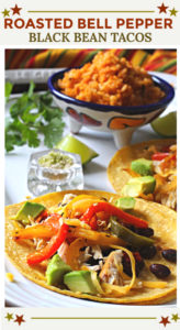Roasted Bell Pepper Tacos