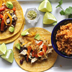 Roasted Bell Pepper, Black Bean Chicken Tacos