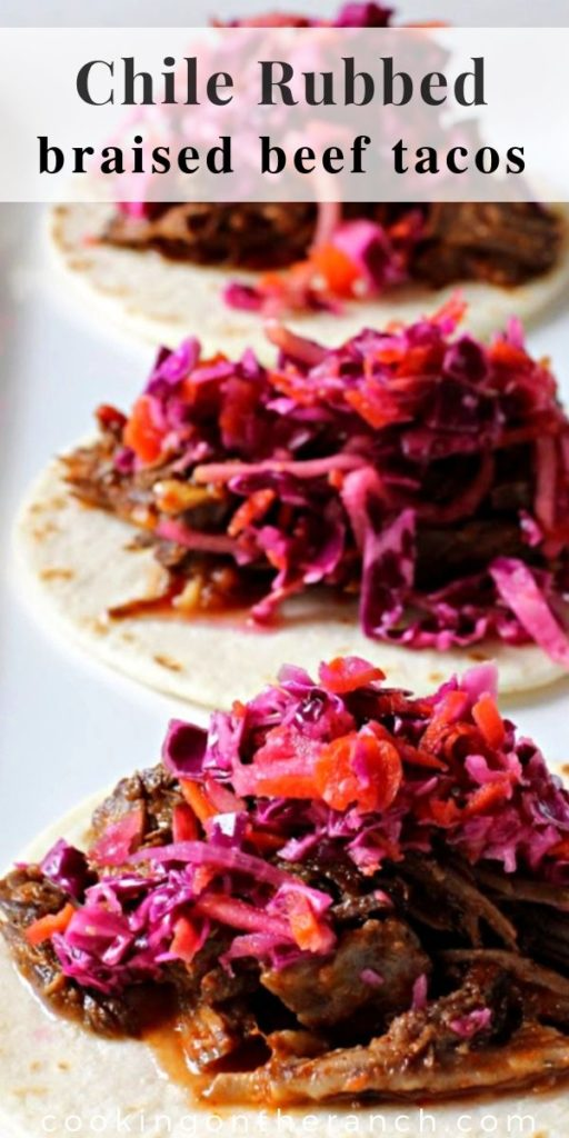Chile Rubbed Braised Beef Tacos