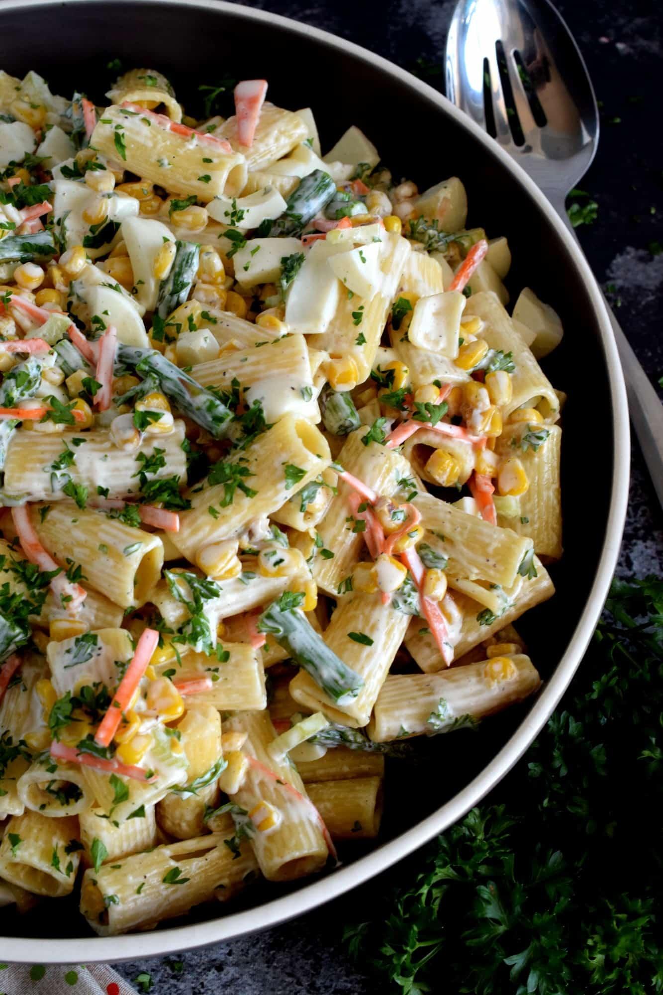 Asparagus and Egg Pasta Salad