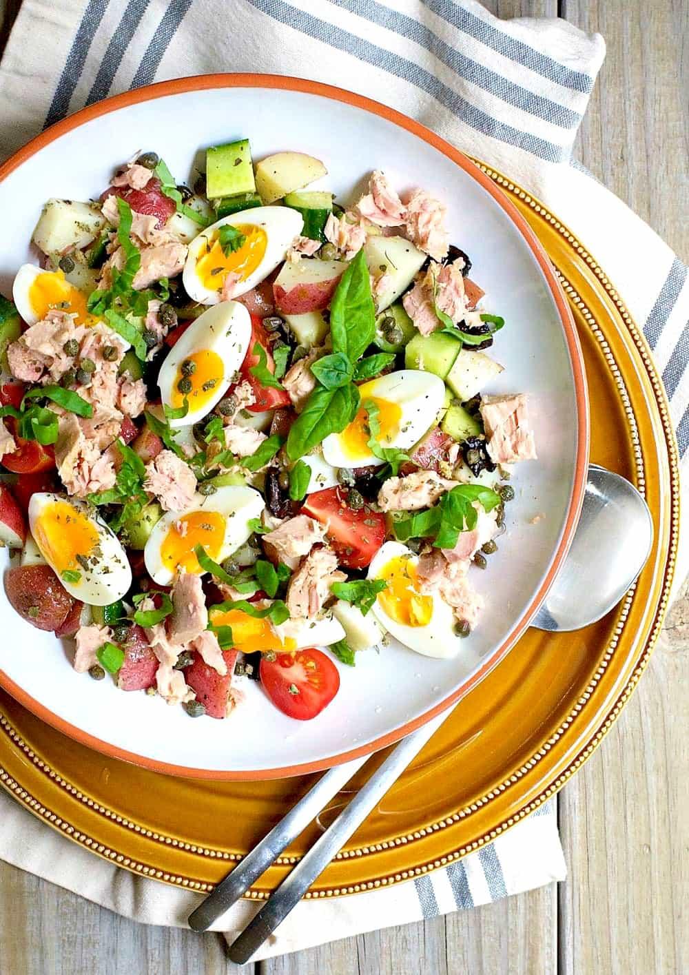 Italian Potato Salad with Tuna