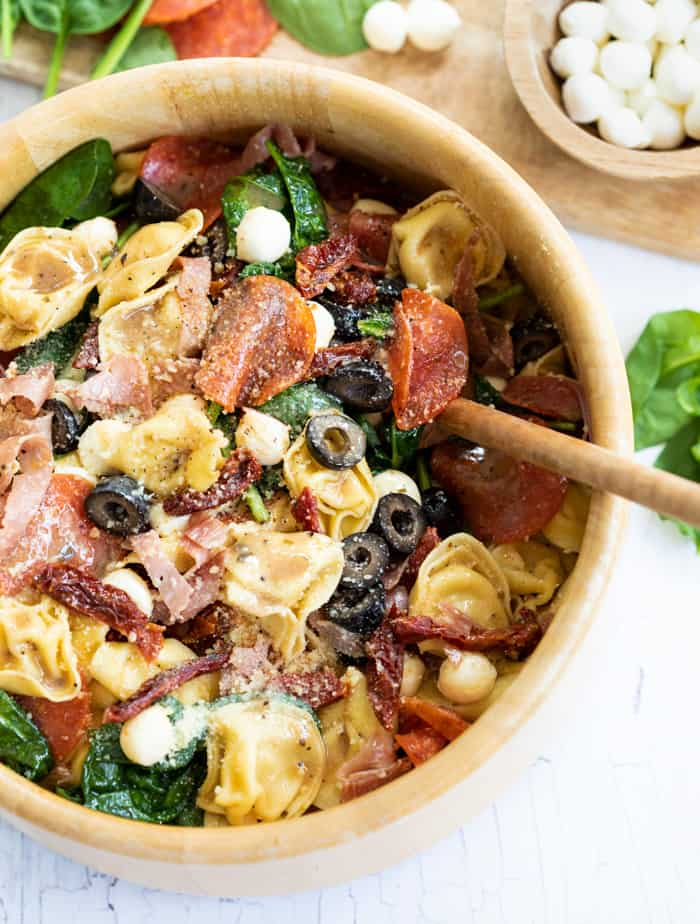 Tuscan Tortellini Salad for 4th of July Side Dishes