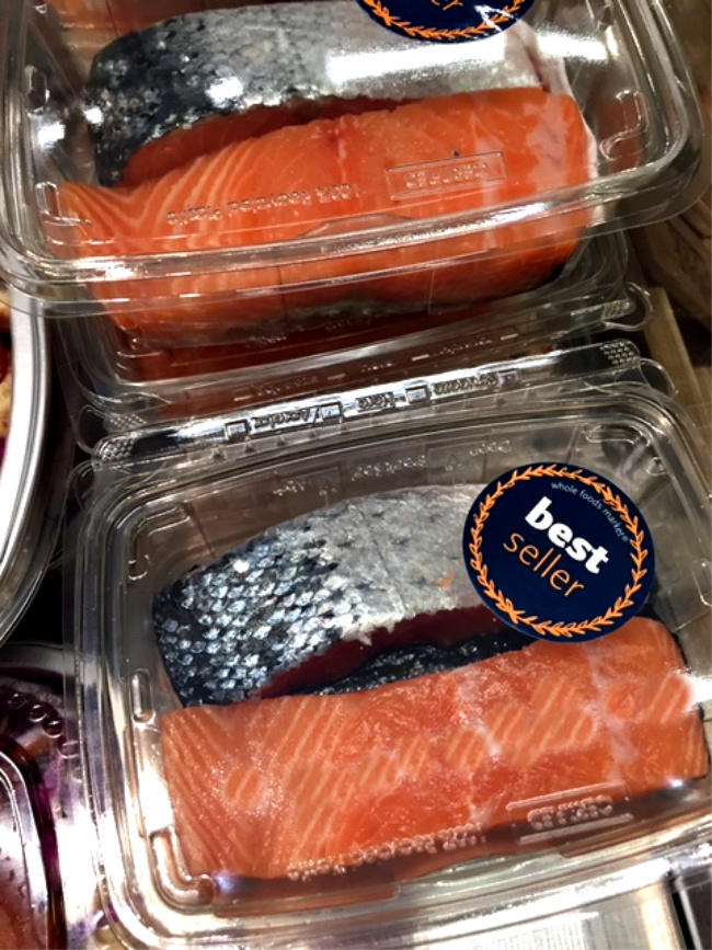 Best farm raised salmon fillets at Whole Foods Market