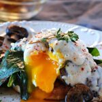 Eggs Benedict with Mushroom Thyme Gravy