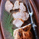 Oven roasted pork tenderloin
