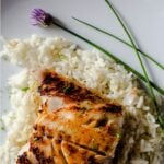 Black Cod with miso glaze served over coconut rice