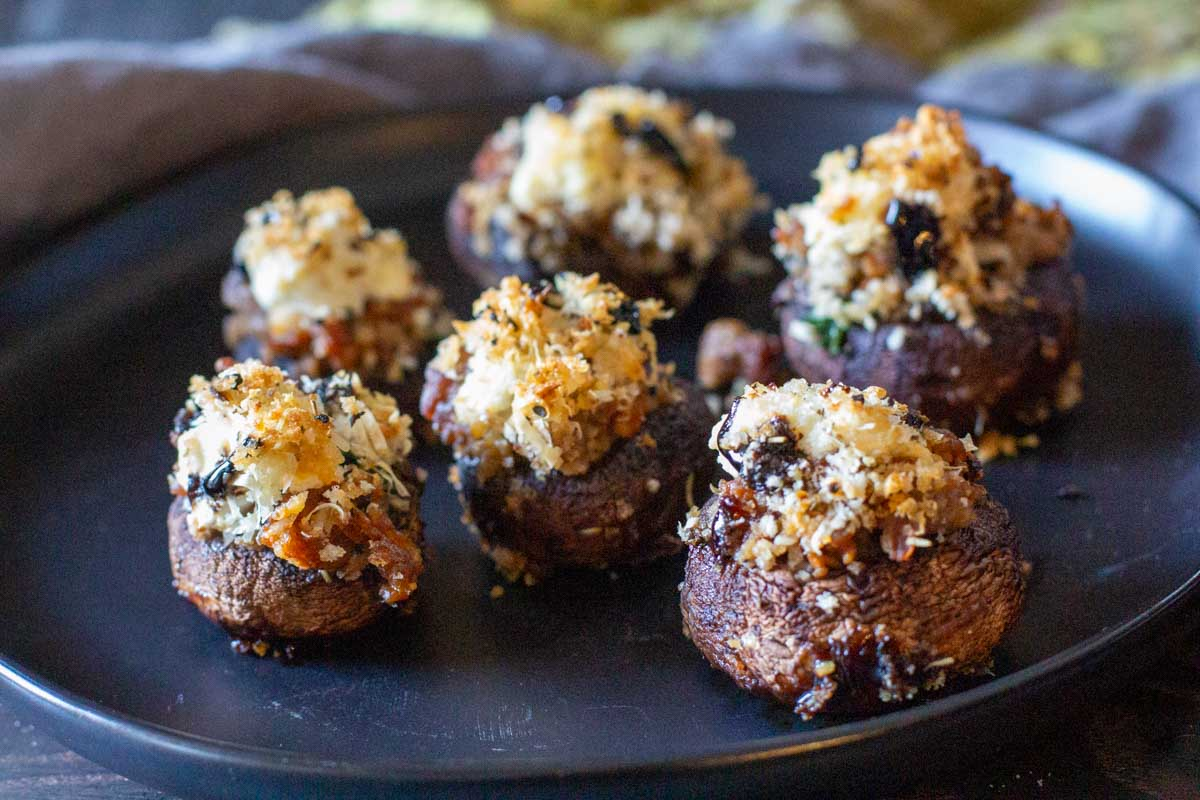 Italian sausage stuffed mushrooms appetizer